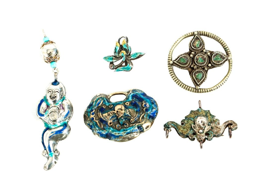 Interesting Group Asian Jewelry Components - 7