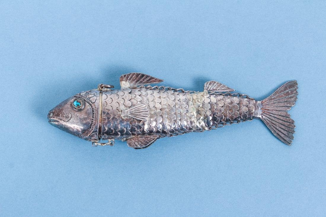 Two Reticulated Asian Silver Fish - 3
