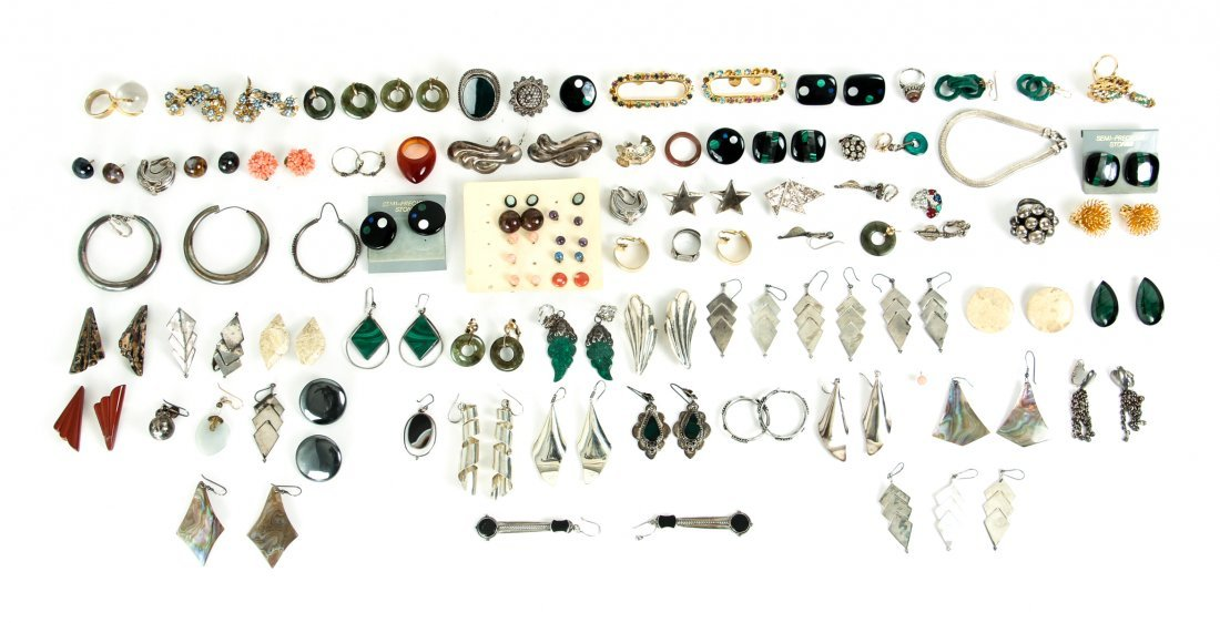 Group of Costume and Other Jewelry Inc Sterling