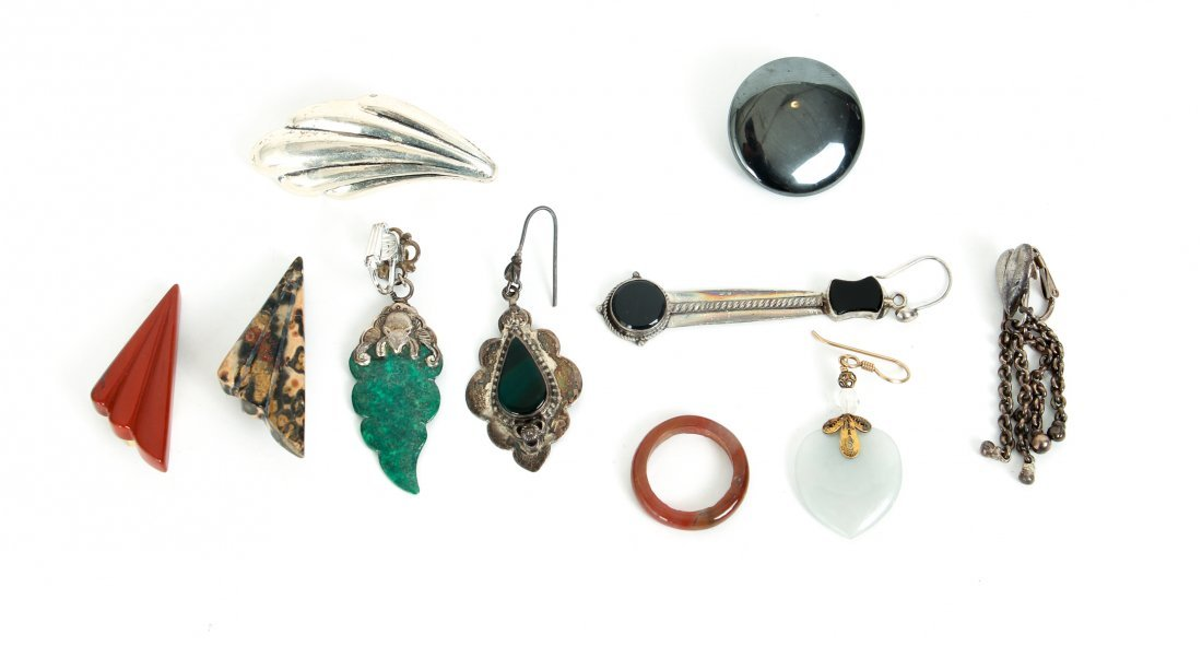 Group of Costume and Other Jewelry Inc Sterling - 6