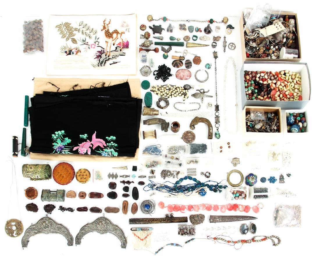 Large Group of Vintage Jewelry Making Supplies