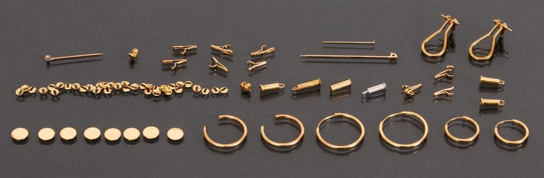 Large Assortment 14 K Gold Jewelry Findings