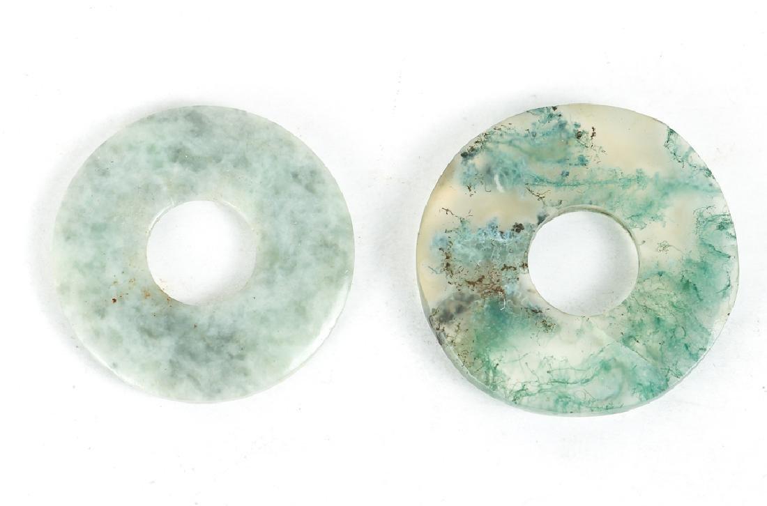 Large Group of Jade or Nephrite Bi Discs - 10