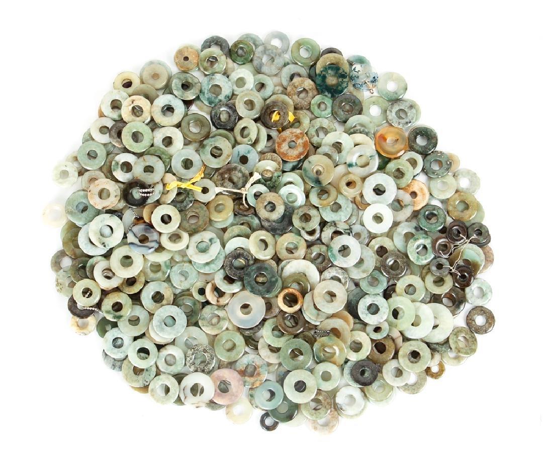 Large Group of Jade or Nephrite Bi Discs