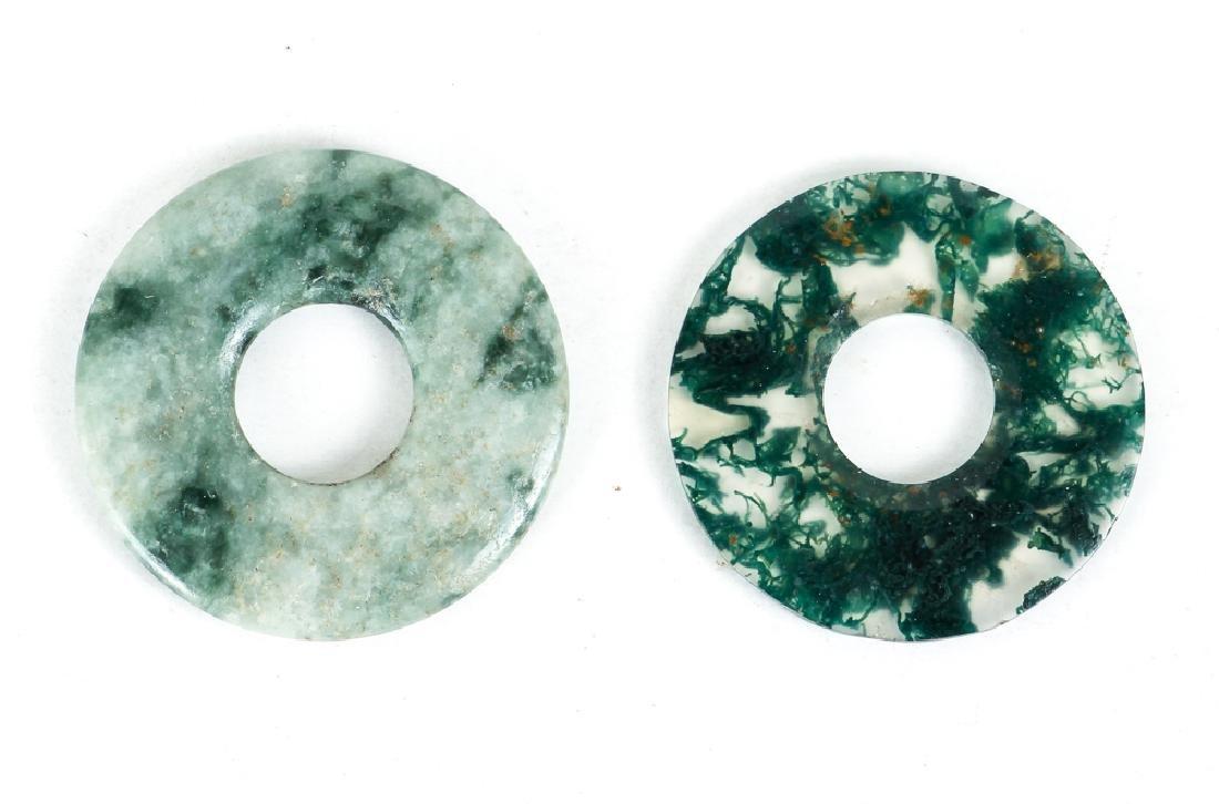 Large Group of Jade or Nephrite Bi Discs - 3