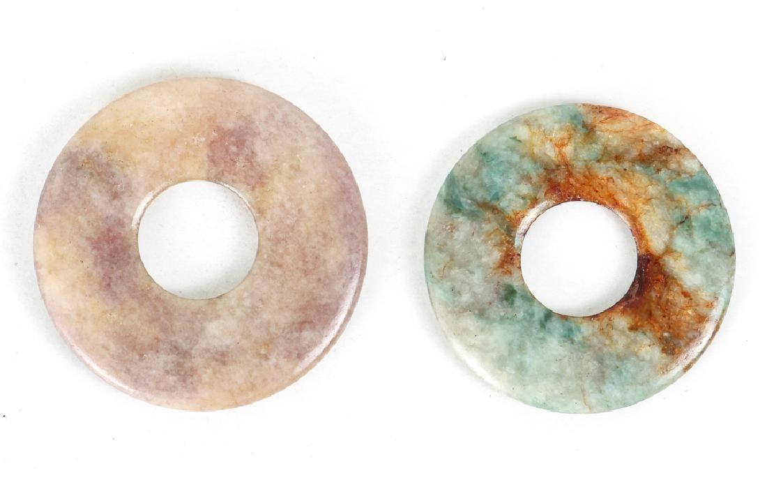 Large Group of Jade or Nephrite Bi Discs - 4