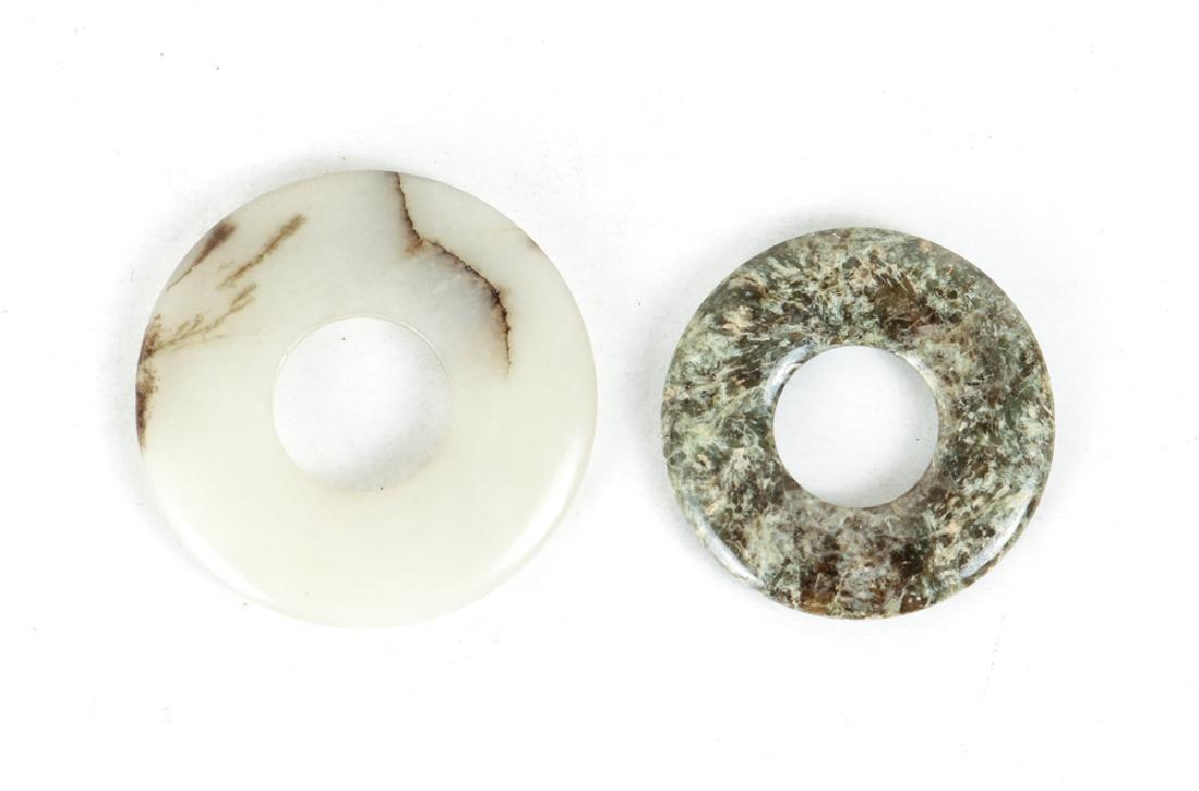 Large Group of Jade or Nephrite Bi Discs - 5