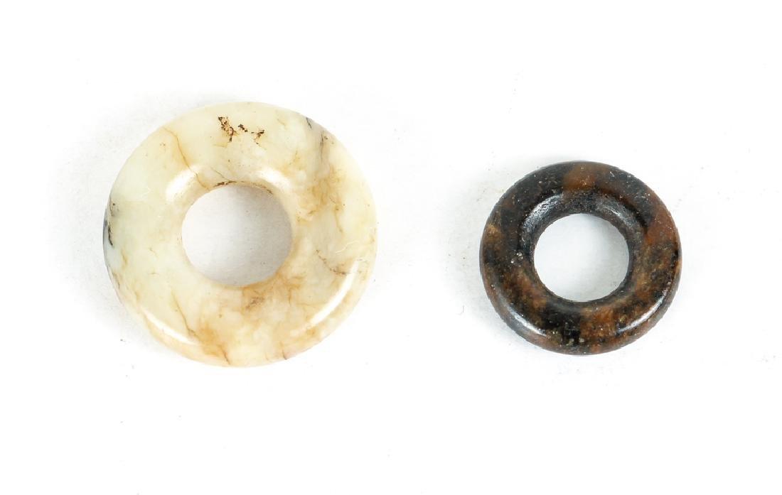 Large Group of Jade or Nephrite Bi Discs - 7