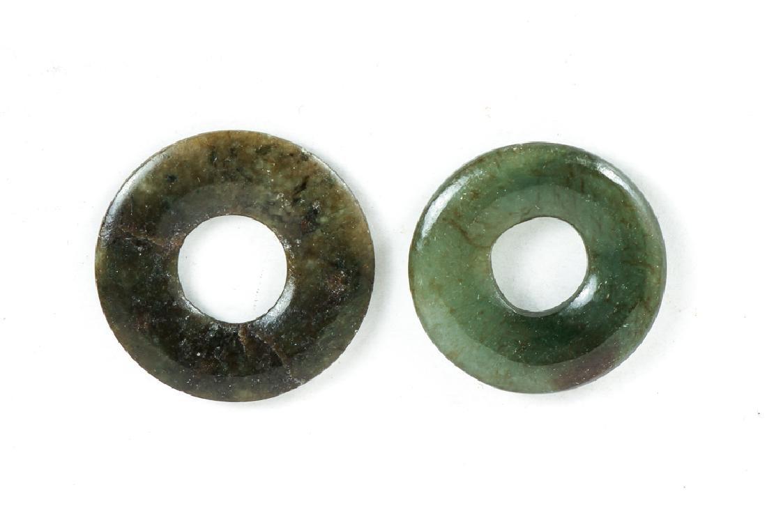 Large Group of Jade or Nephrite Bi Discs - 8