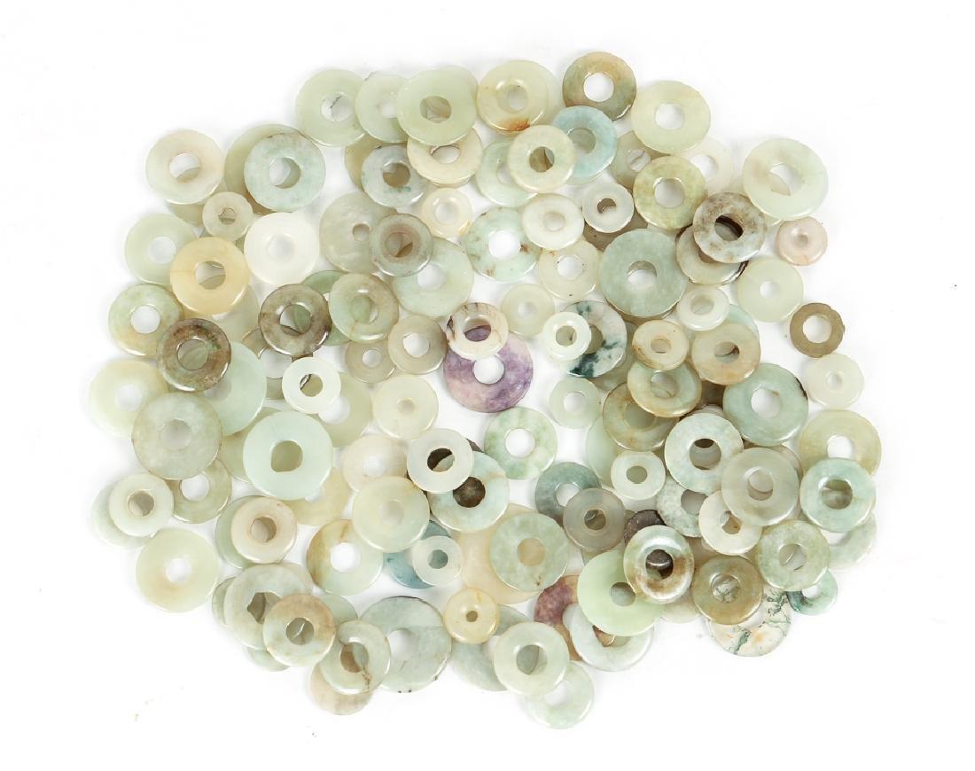 Group of Jade or Nephrite Bi Discs