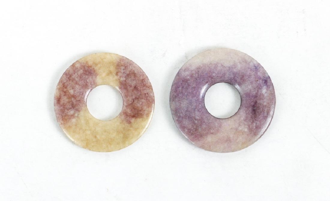 Group of Jade or Nephrite Bi Discs - 2