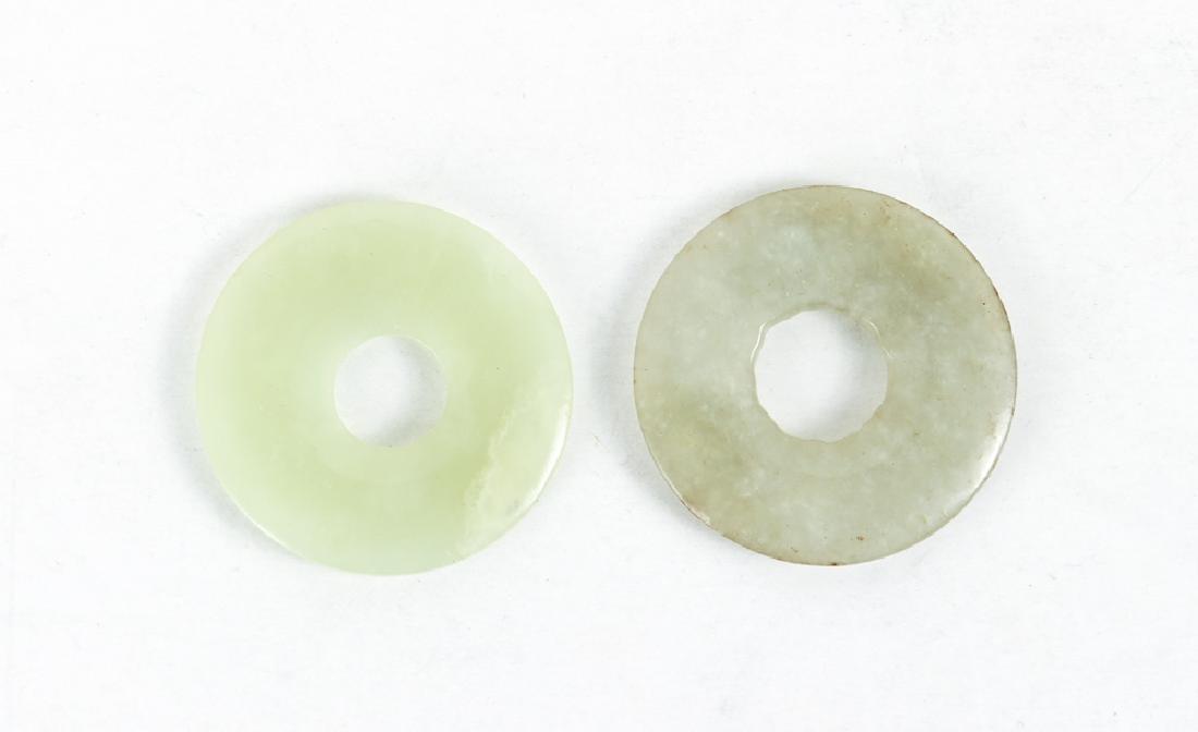 Group of Jade or Nephrite Bi Discs - 3