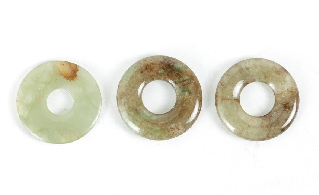Group of Jade or Nephrite Bi Discs - 5