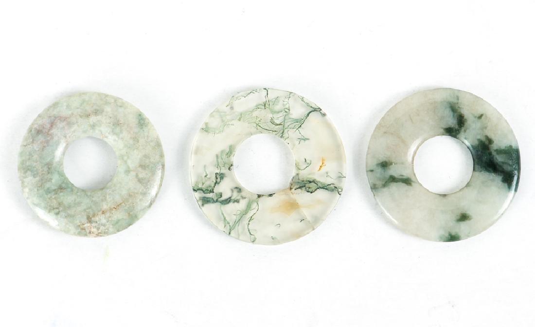Group of Jade or Nephrite Bi Discs - 6