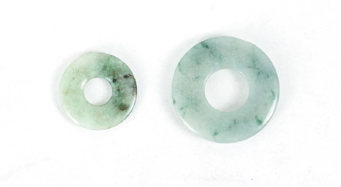 Group of Jade or Nephrite Bi Discs - 8