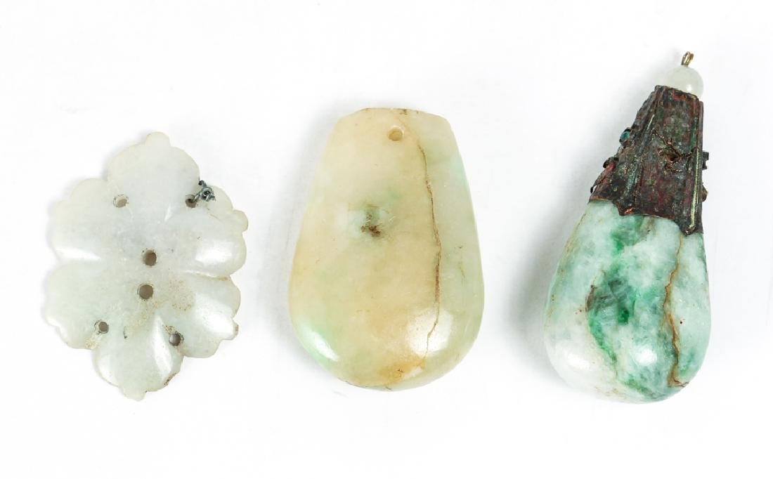 Large Group of Jade or Nephrite Beads - 10
