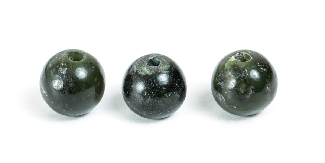 Large Group of Jade or Nephrite Beads - 3