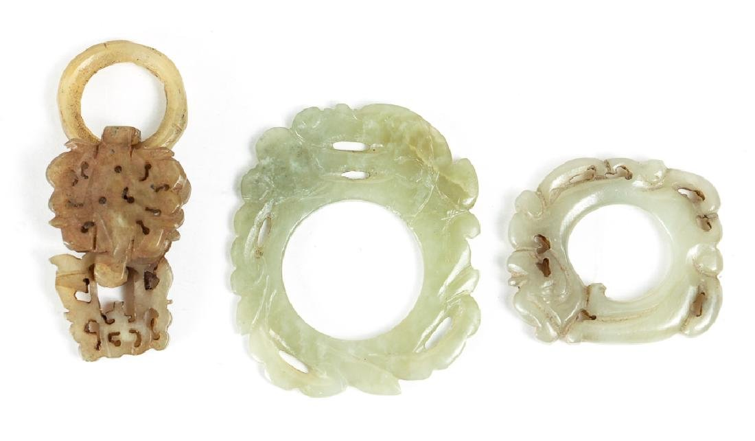 Large Group of Jade or Nephrite Beads - 7