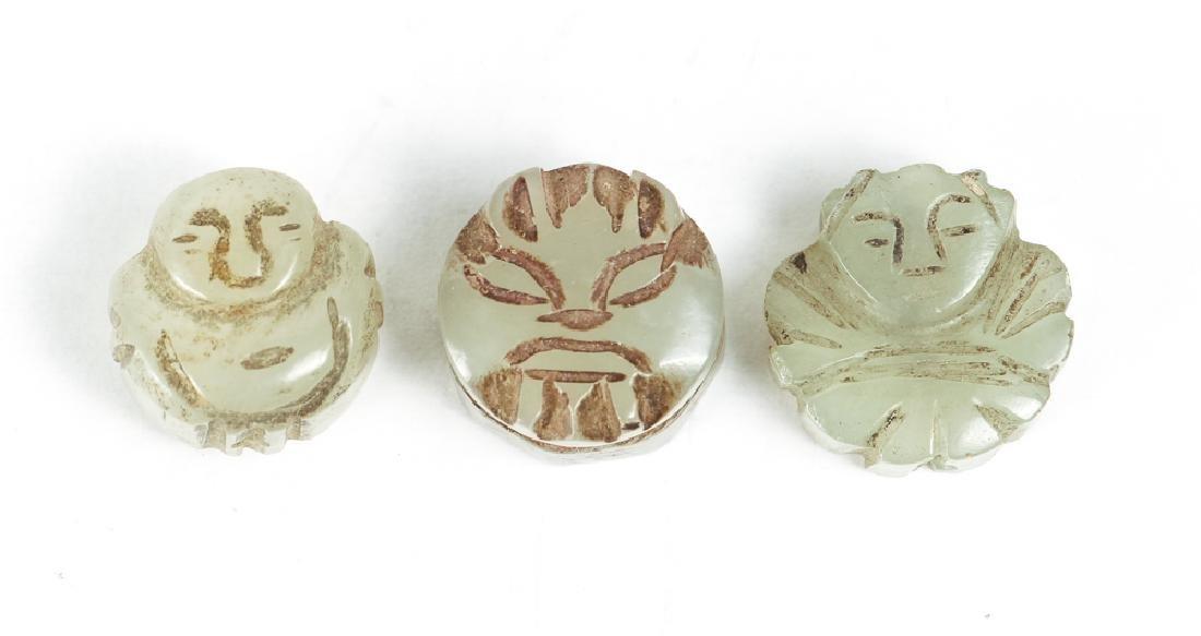 Large Group of Jade or Nephrite Beads - 8