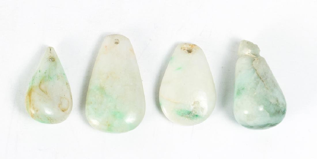 Large Group of Jade or Nephrite Beads - 9