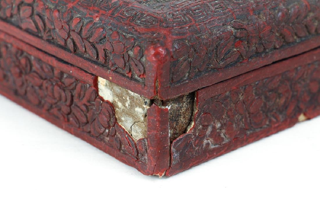 Two Antique Chinese Cinnabar Boxes - 5