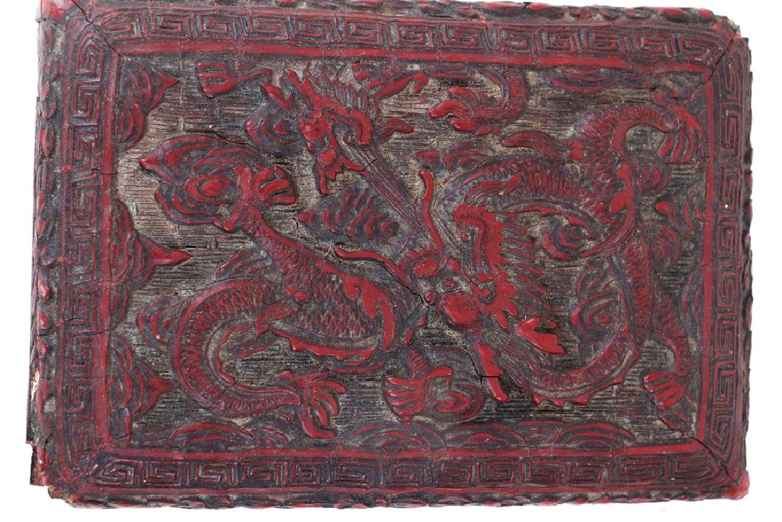 Two Antique Chinese Cinnabar Boxes - 7