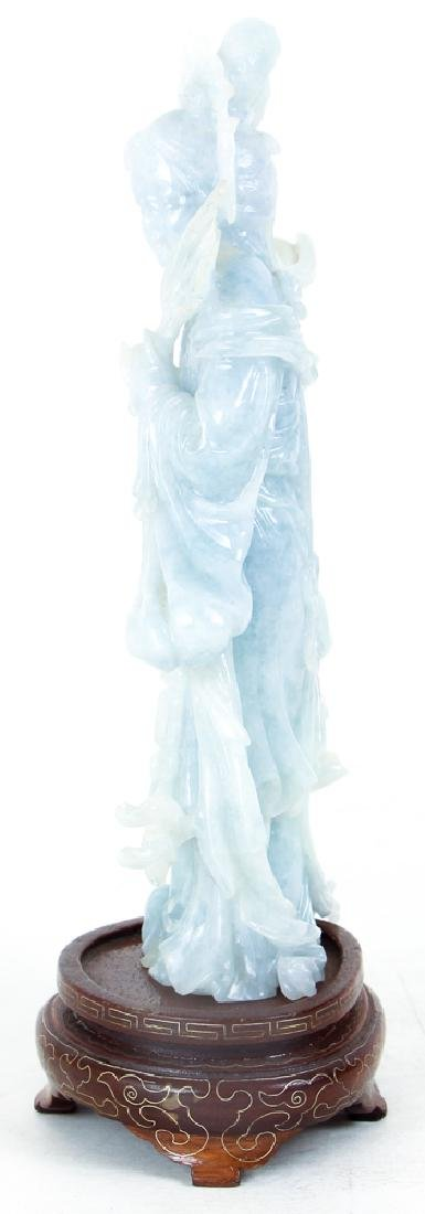 Vintage Fluorite Chinese Carving of Guan Yin - 4