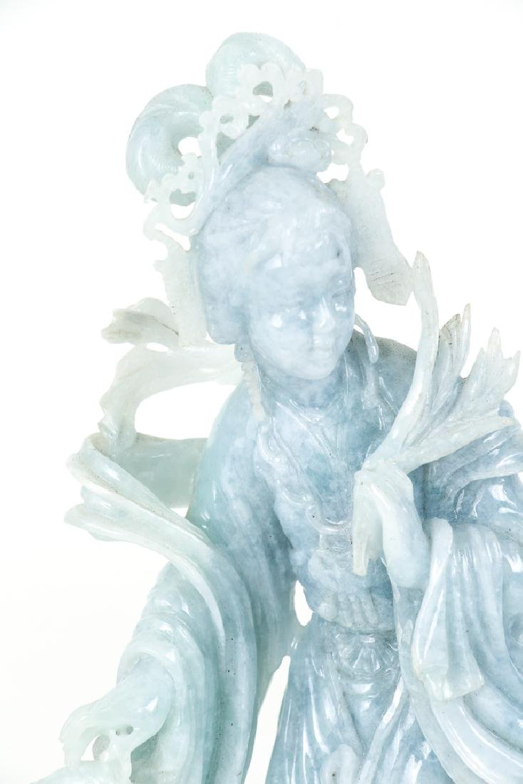 Vintage Fluorite Chinese Carving of Guan Yin - 6