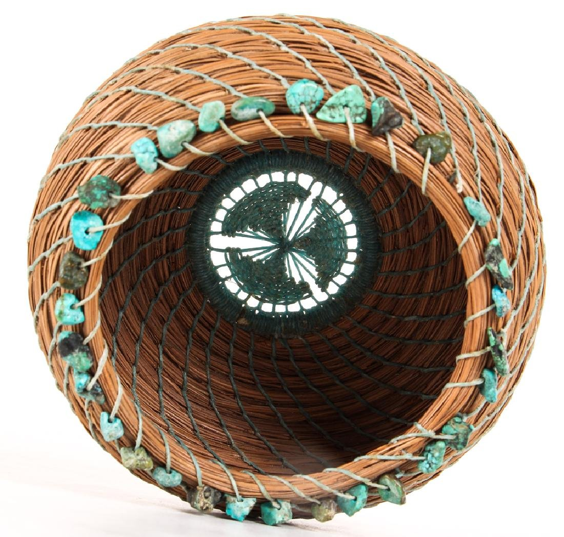 South West American Indian Pine Needle Basket - 2