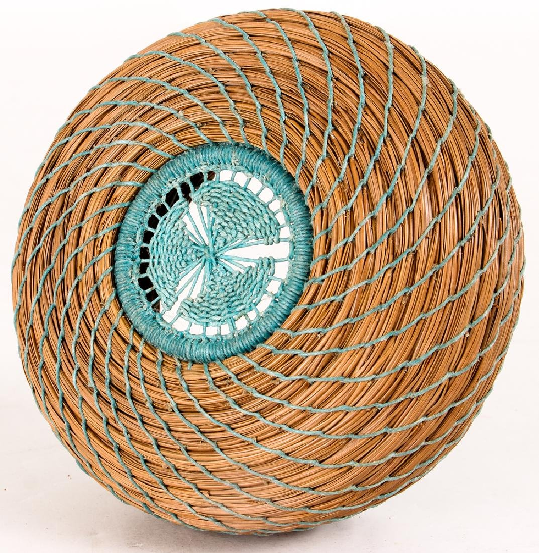 South West American Indian Pine Needle Basket - 3