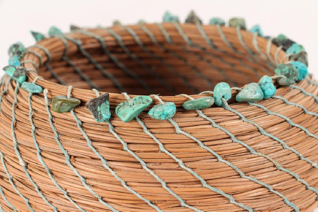 South West American Indian Pine Needle Basket - 4