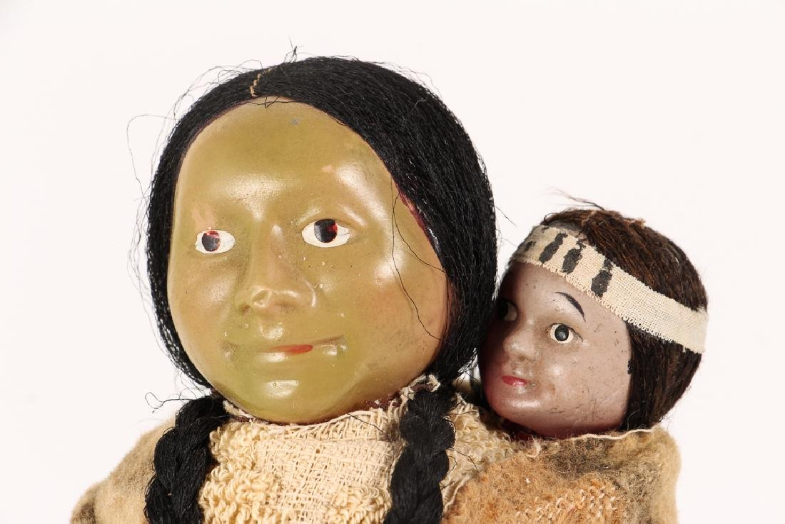 Skookum Doll American Indian Mother and Papoose - 5