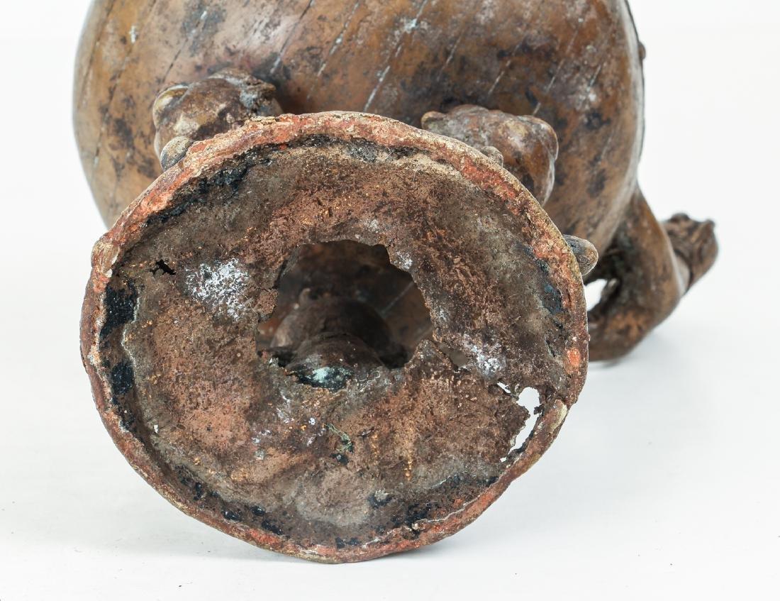 Ashanti bronze ritual vessel - 8