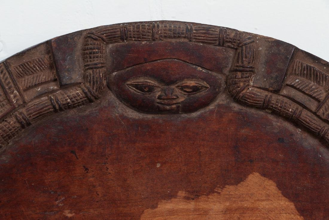 African carved wooden plate - 2