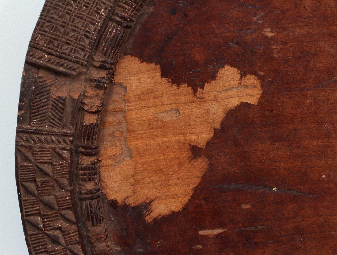 African carved wooden plate - 3