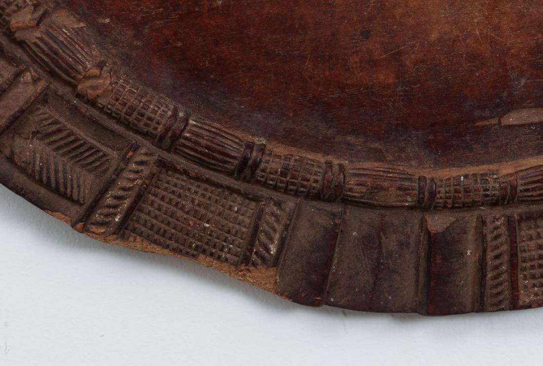African carved wooden plate - 4