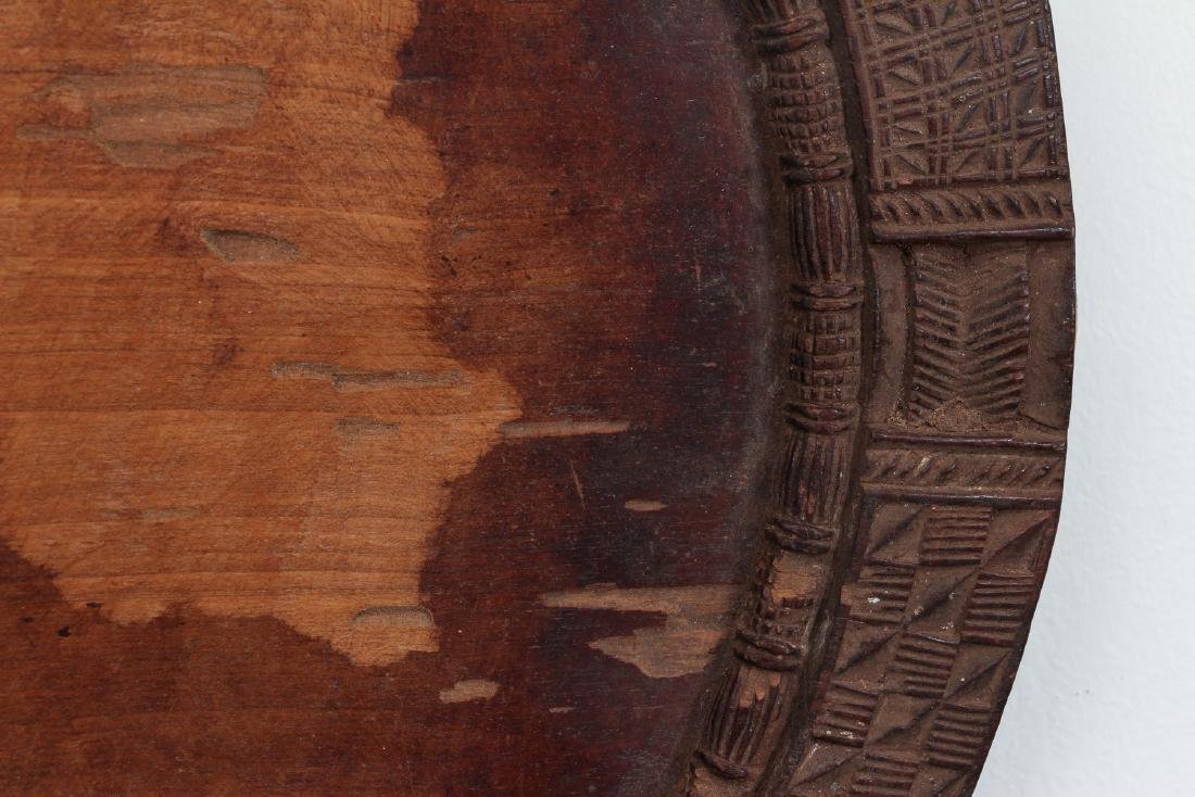 African carved wooden plate - 5