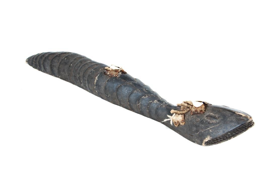 Baga Carved Wood Serpent