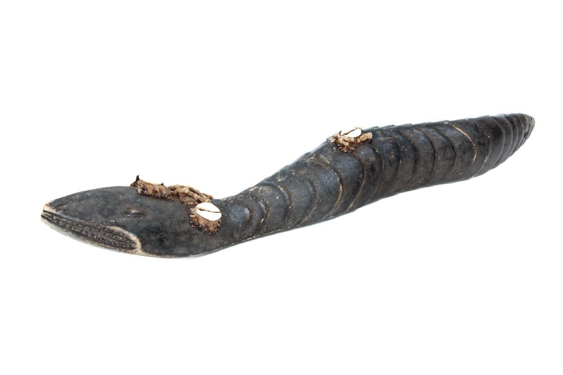 Baga Carved Wood Serpent - 2