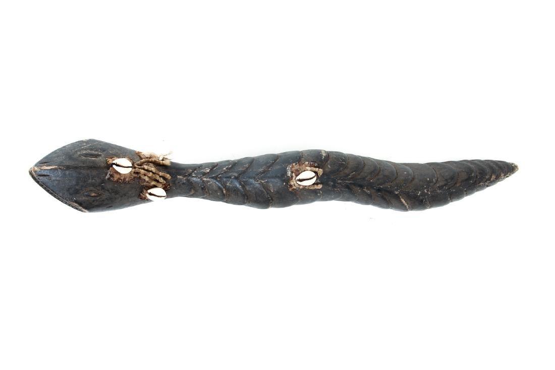 Baga Carved Wood Serpent - 3