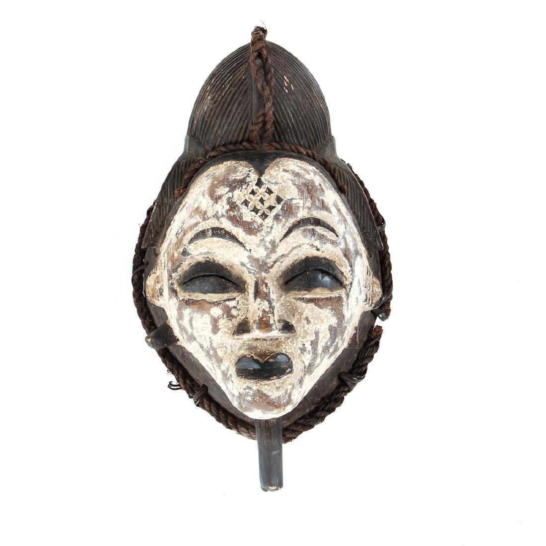 Punu Mask, Polychromed Wood