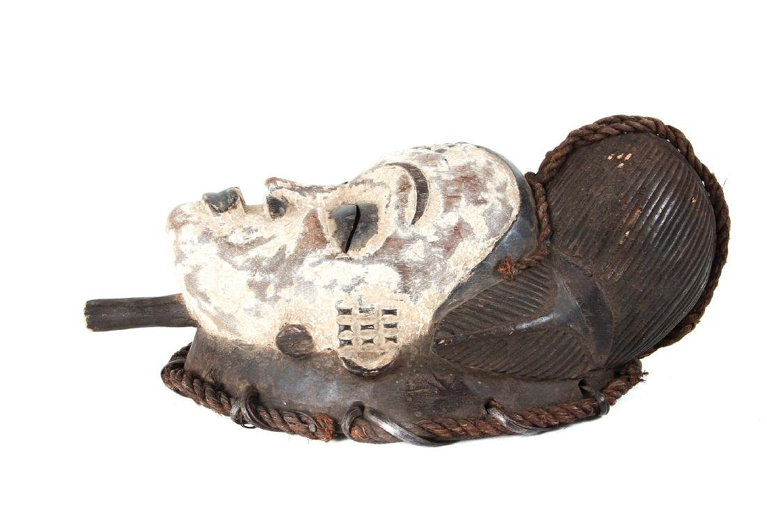 Punu Mask, Polychromed Wood - 3