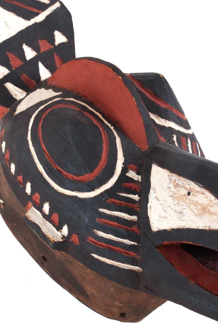 Polychromed wood bird mask - 5