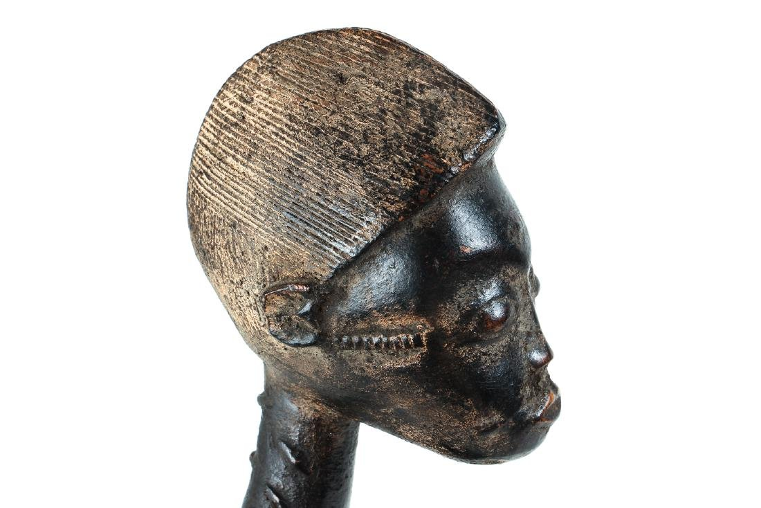 Baule Female Figure Seated on Stool - 6