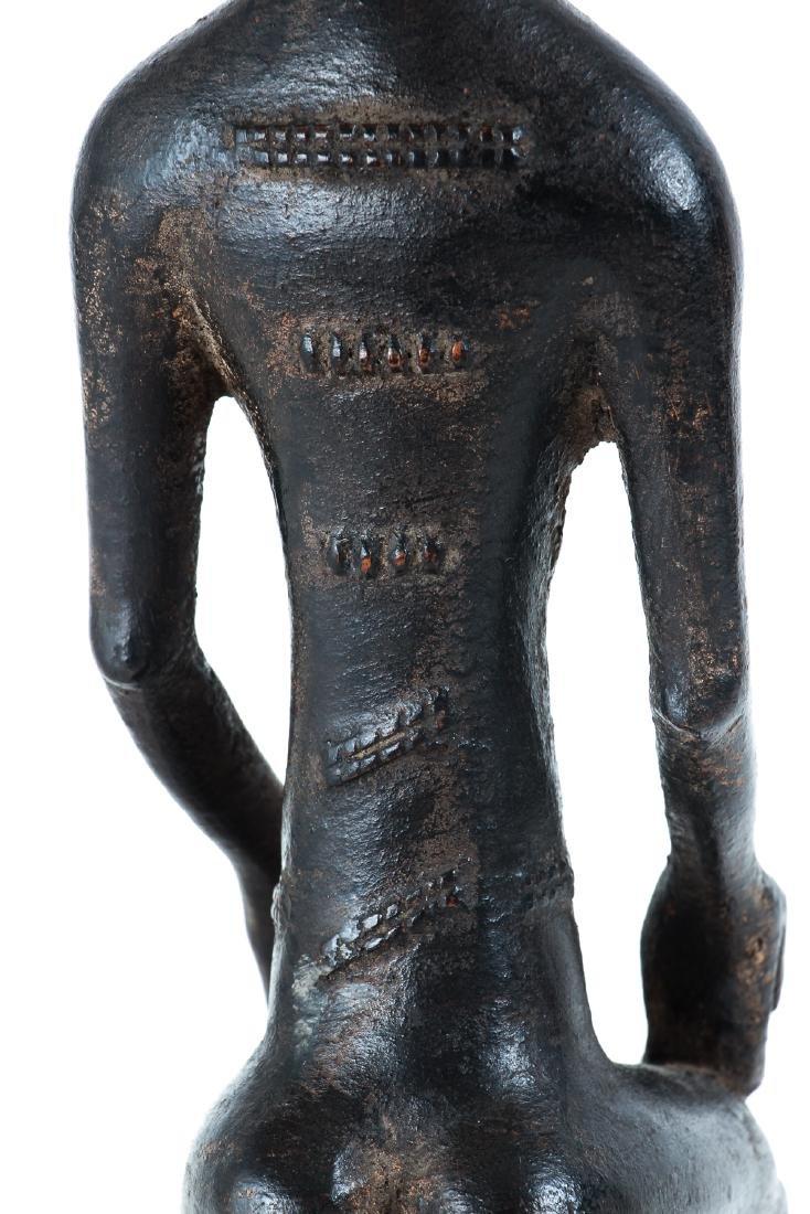 Baule Female Figure Seated on Stool - 7