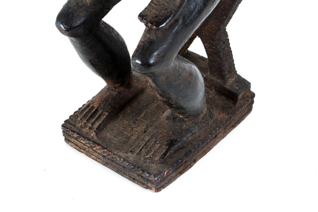 Baule Female Figure Seated on Stool - 8