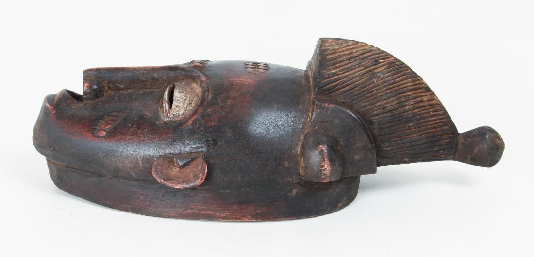 20th Century Baule Peoples Carved Wood Mask - 3