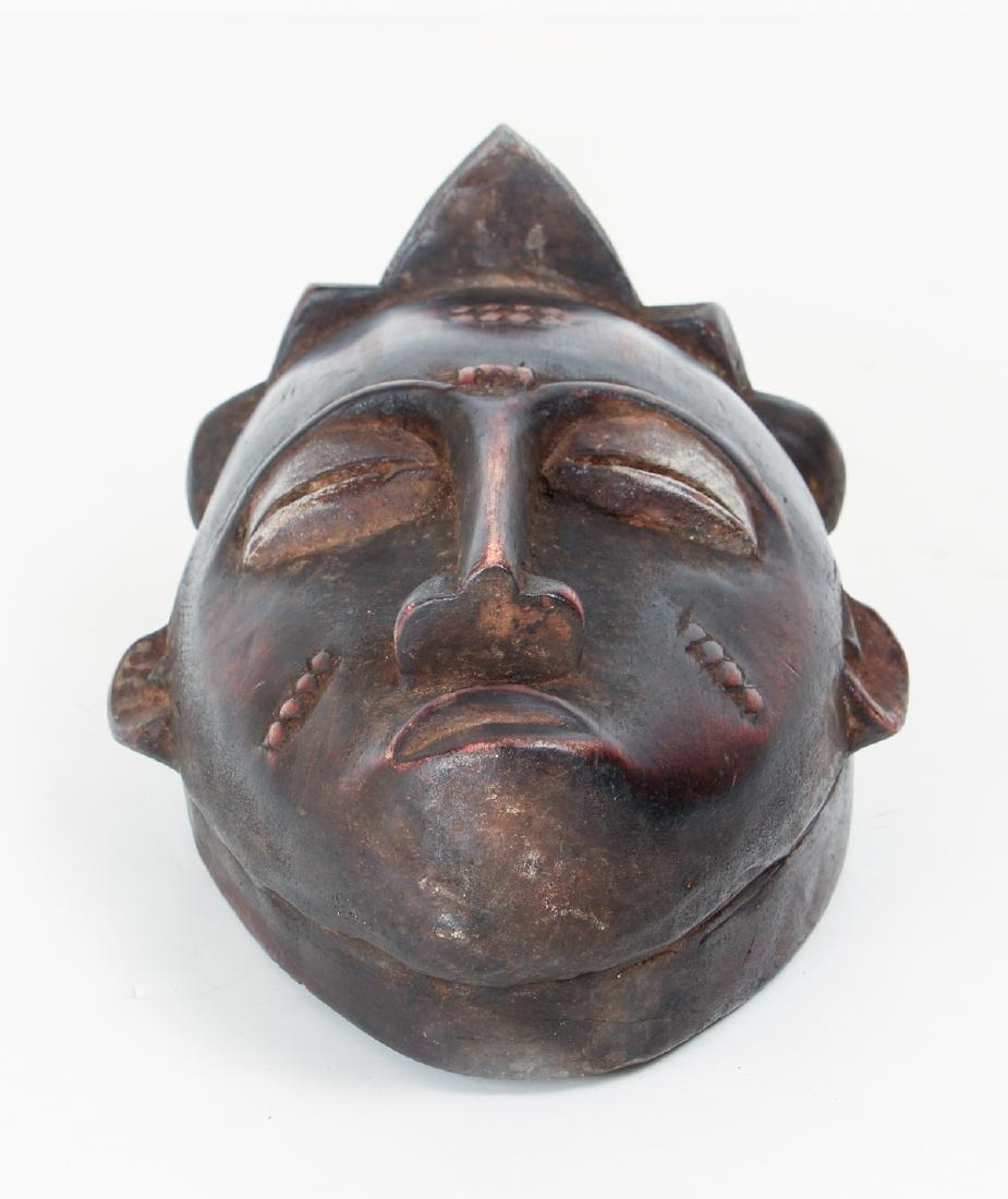 20th Century Baule Peoples Carved Wood Mask - 4