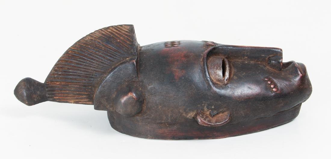 20th Century Baule Peoples Carved Wood Mask - 5