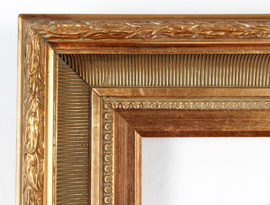 2 - Hudson River Style gilded wood frames - 2